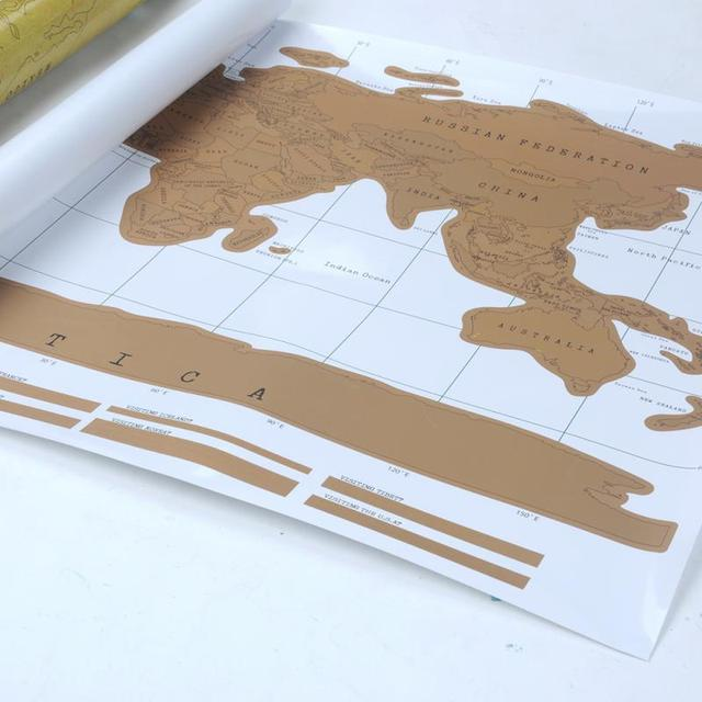 Travel Scratch Off Map Personalized World Map Poster Traveler