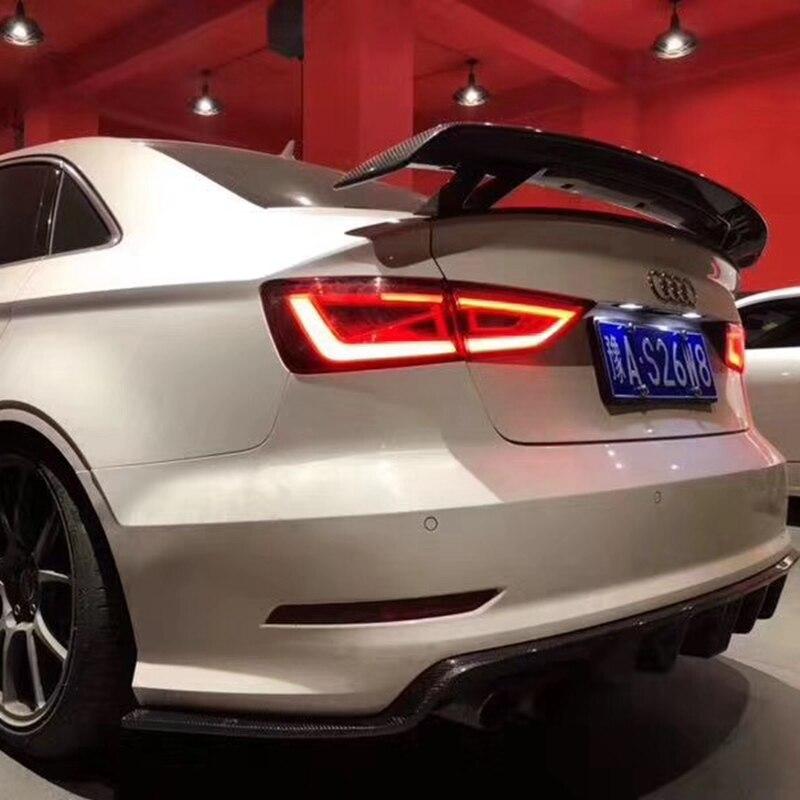 Voiture StyleFor Audi A3 Berline Spoiler A3 S3 En Fiber De Carbone Aileron Arrière Tronc Aile Verre Noir Finition 2014 2015 2016 2017 2018 Pour A3