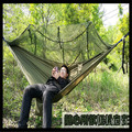 Portable Hammock 260 x 140cm Single-person Mosquito Net Hammock Hanging Bed Outdoor Swing for Travel Camping Outdoor Furniture