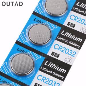 OUTAD 5pcs 3V CR2032 Coin Battery for Watches Button Cell