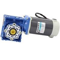 300W 24V DC RV40 Worm Reducer Motor 12V NMRV40 Worm Gear Motor Self locking Gear Single Shaft CW CCW