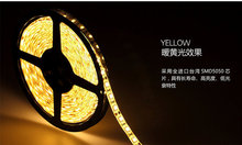 hot deal buy 20meter/lot dc12v smd5050 60leds ip65 yellow color  led strips strip light with high lumin 2 years warranty time