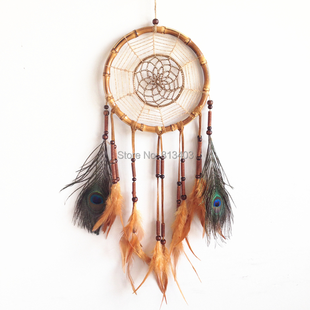 Dream Catchers Made By Native Americans 40pc Free Shipping Native American Style Feather Dream Catcher 19