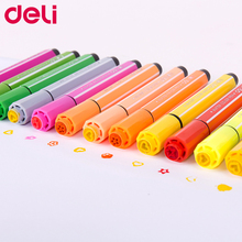 Color-Pen-Set Stamp Art-Markers Deli Washable Kawaii Cute with for Children And Safe