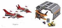 Lepin 02007 City Airport Air Show  old-fashioned plane hangar block Set  723pCS Toy Compatible with 60103