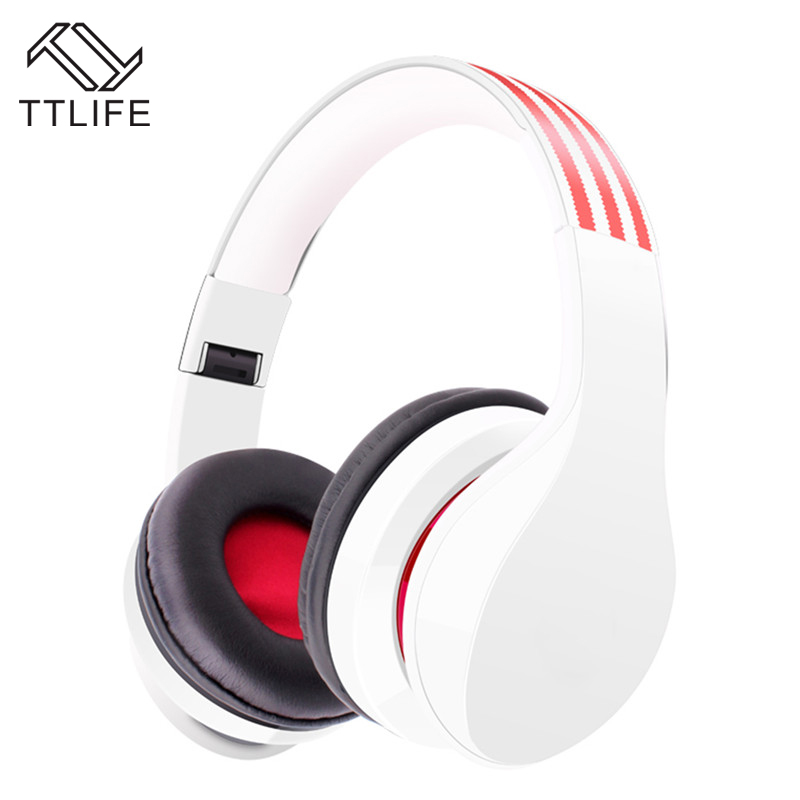 TTLIFE Brand Wireless Stereo Headphones Noise Cancelling Bluetooth Headset Handsfree with Mic for iPhone Smartphone Pk CD-618 ttlife new mini stereo car kit bluetooth headset wireless earphone handsfree auriculares with mic with charging dock for iphone
