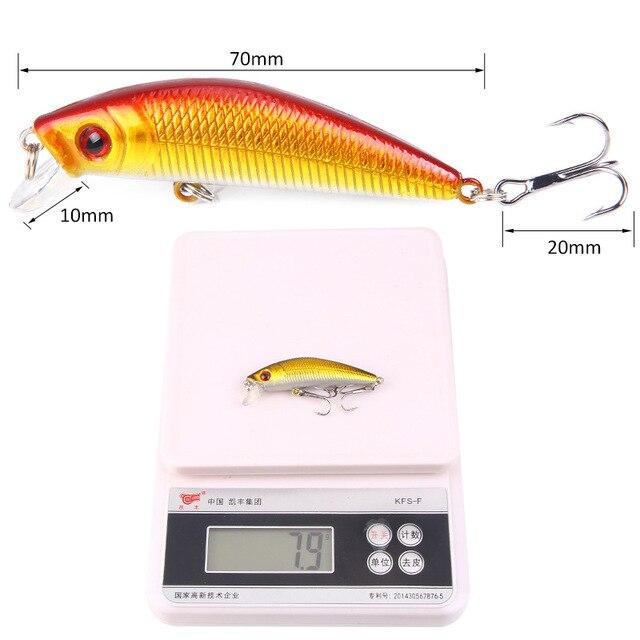 1 Pcs Fishing Lure Minnow 7cm 8g Crankbait Hard Bait Tight Wobble Slow sinking Jerkbait Pesca Fishing Tackle Accessories 5