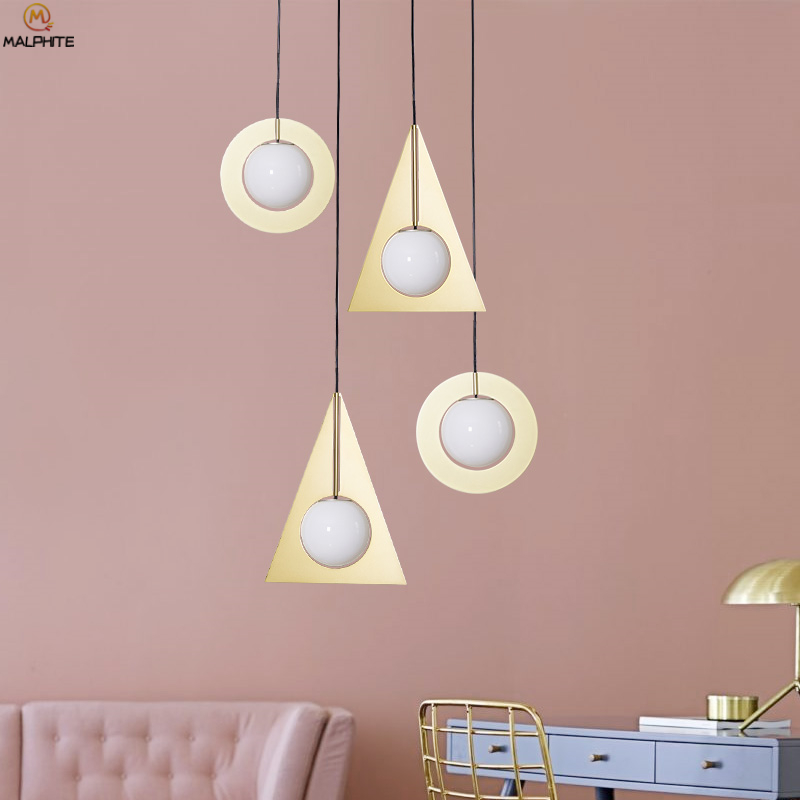 Modern Pendant Lights Study Reading Living Room Pendant lamp Simple iron Bedside lamp Restaurant Bar White Glass luminaireModern Pendant Lights Study Reading Living Room Pendant lamp Simple iron Bedside lamp Restaurant Bar White Glass luminaire