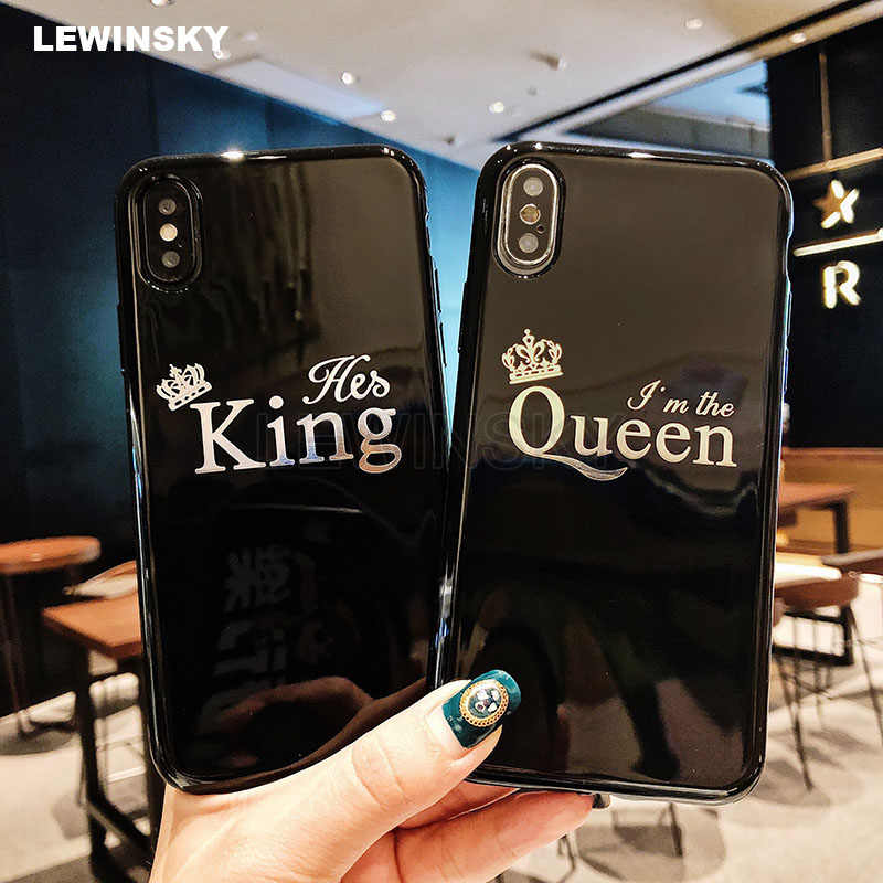 Glossy Crown Silicone Phone Case For iPhone 7 8 6 S 6S Plus Letter KING Soft TPU Back Cover For iPhone X 11 Pro XS MAX XR Case