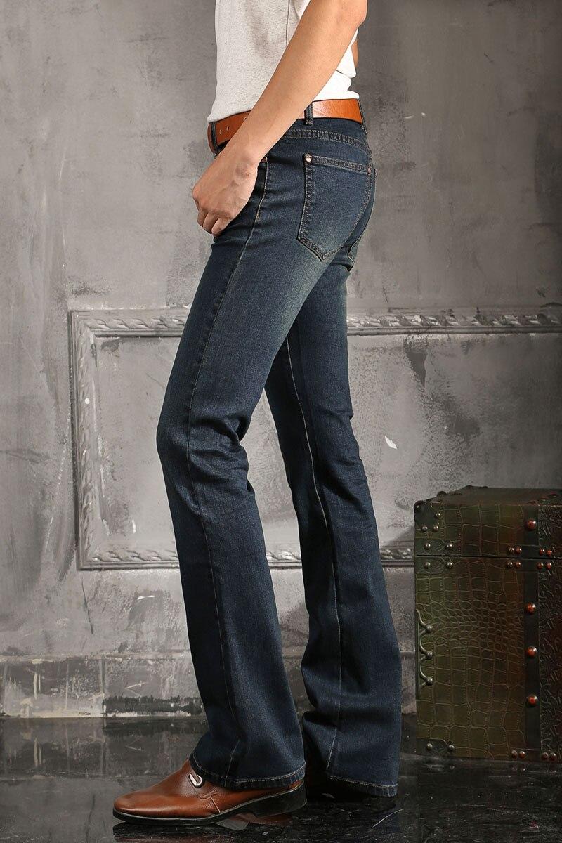 Mb16268 Hommes Cut Jambe Jean Taille Pantalon Pour Flare 27 Boot Bleu 38 2016 Fond À Légèrement La Plus Jeans Cloche 4dH4q6w