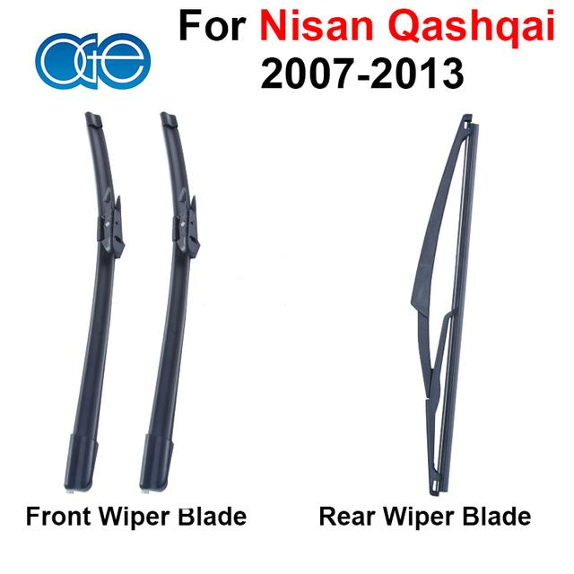 Combo da Borracha de Silicone Frente E Lâminas Do Limpador Traseiro Para Nissan Qashqai 2007-2013 Brisas Alta Qualidade Acessórios Do Carro