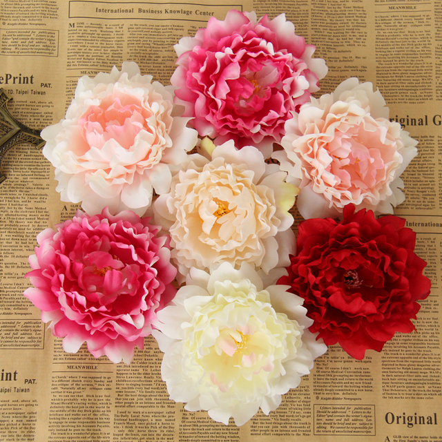 30pcsbag Artificial Flowers Peony Flower Heads Simulation Silk