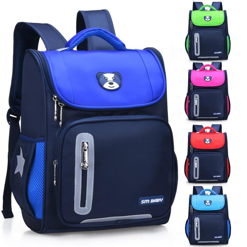 4c130fb73ada Детские школьные ранцы для мальчиков и рюкзаки для девочек школьные 3D  нейлоновые начальные рюкзак для школьников