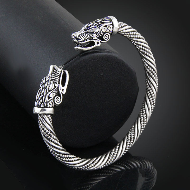 LAKONE Teen Wolf Head Bracelet Indian Jewelry Fashion Accessories Viking Bracelet Men Wristband Cuff Bracelets For Women Bangles 4
