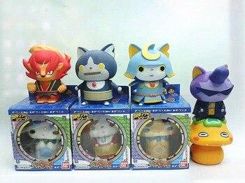 7 teile/satz 8 cm Geschenk box paket Japanischen cartoon Yokai uhr action figure puppe. PVC kinder spielzeug yokai-uhr Jibanyan Roboyan d12