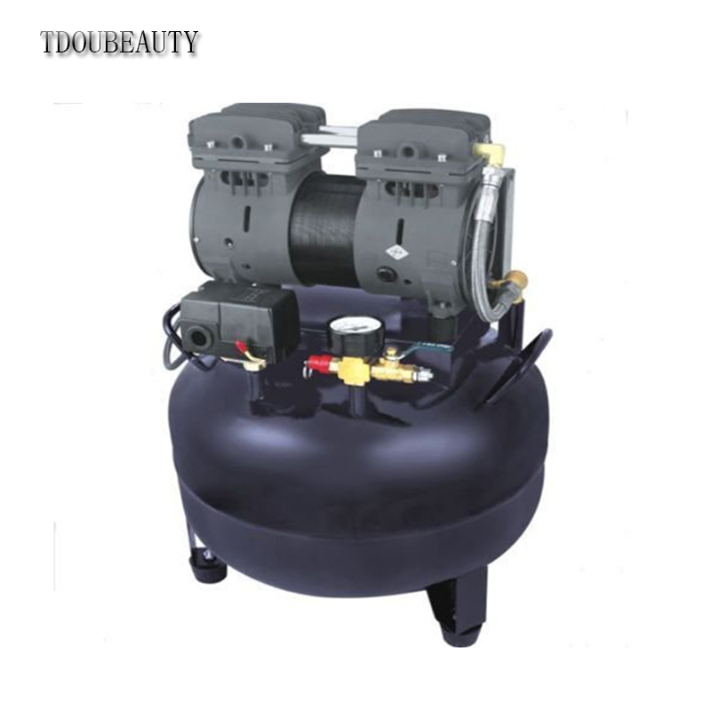 TDOUBEAUTY Dental Air Compressor Motors Turbine Unit CX236-2 One Drive One 550W Black Free shipping tdoubeauty dental greeloy silent oil free air compressor ga 62 free shipping