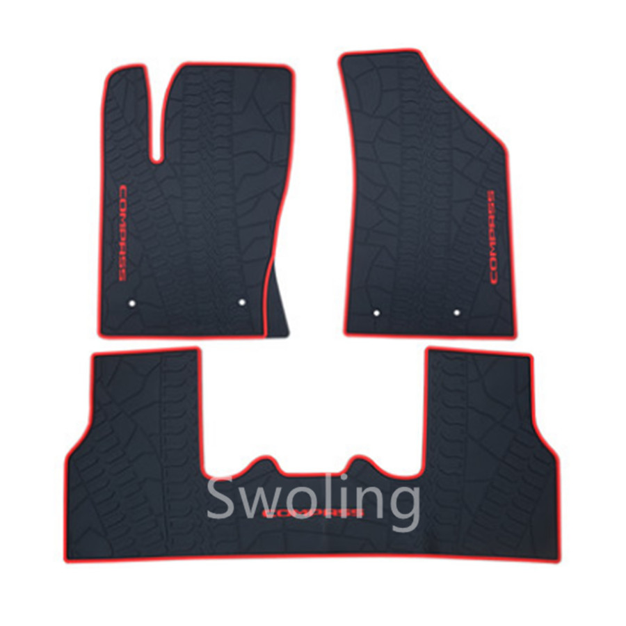 For Jeep Compass 2017 High Quality Waterproof Anti Skip Latex Durable Carpets Special Rubber Car Floor Mats