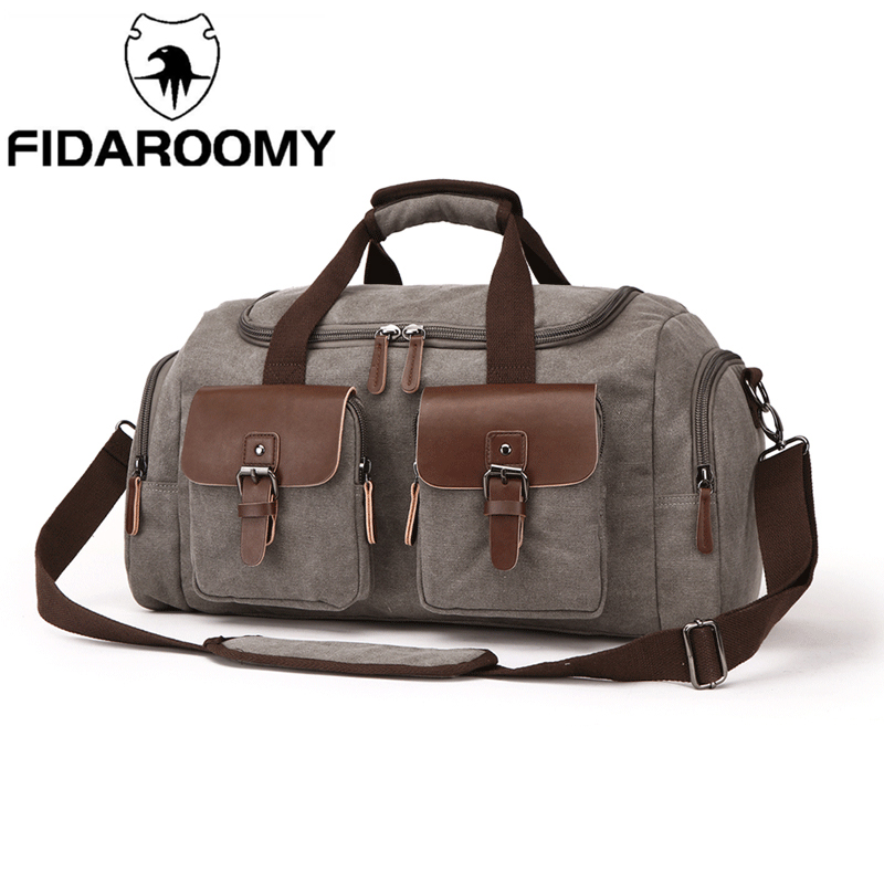 Canvas Travel Duffel Bag 35L High Capacity Weekender Bag Overnight Carry-on Luggage Short Bussiness Trip Crossbody Shoulder BagCanvas Travel Duffel Bag 35L High Capacity Weekender Bag Overnight Carry-on Luggage Short Bussiness Trip Crossbody Shoulder Bag