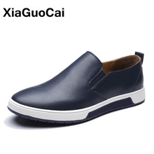Plus Size Spring Autumn Men Leather Loafers Fashion Casual Shoes Man Luxury British Slip-On Leisure Male Moccasins Dropshipping