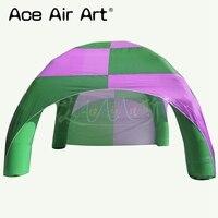 Розовый и зеленый цвет 4x4 м надувные палатки паука, воздушный купол сбор события станций шатер для рекламы/вечерние активности
