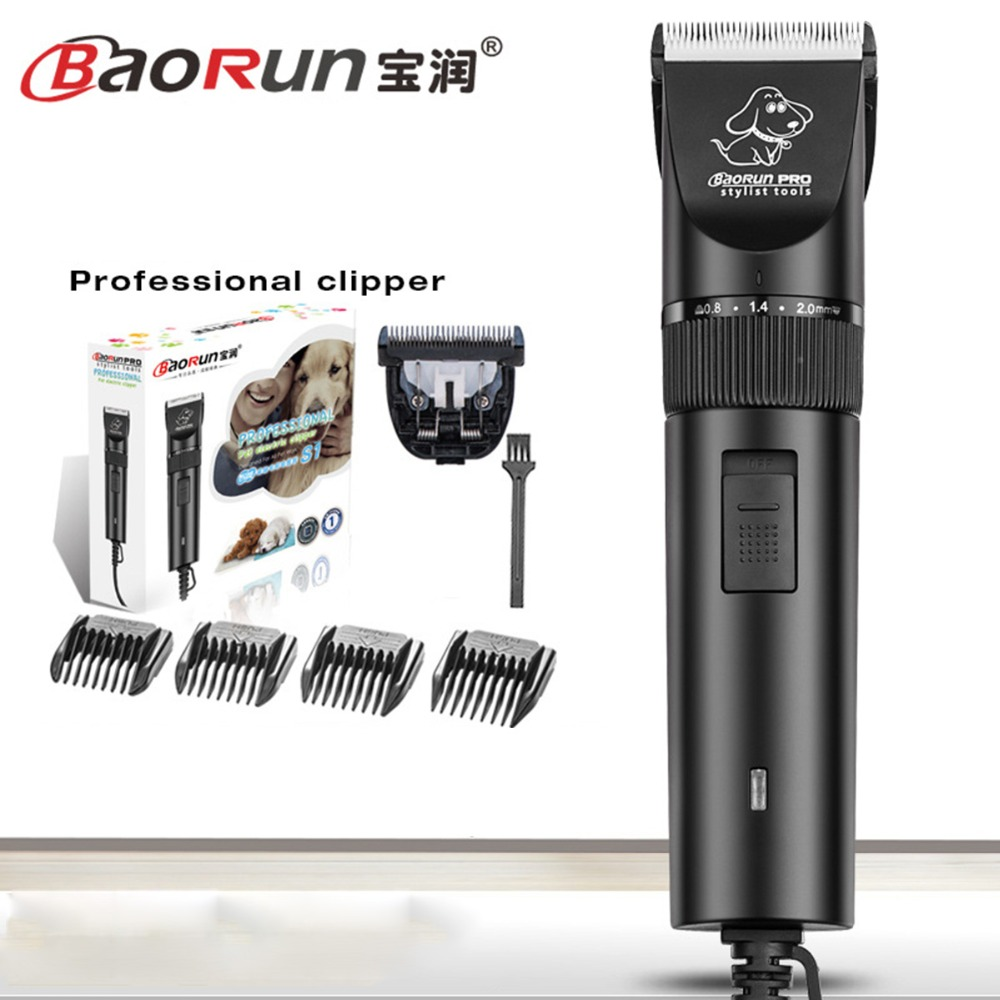 Double Blades Professional Pet Dog Hair Trimmer sufficient power Machine tools Animal Grooming Hair Clippers 2.8m Power Cord S1