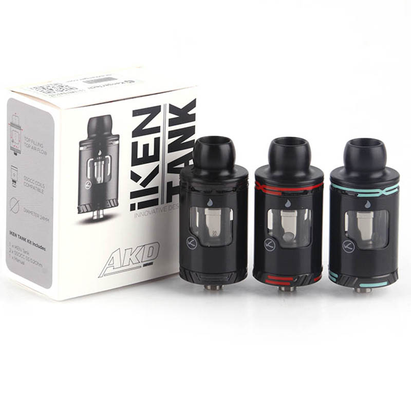 Kangertech IKEN RTA Tank Atomizer 24mm 4ML Replacement Coil Electronic Cigarette Tank Vaping RTA for 510 Thread atomizer for reload rta e cigarette 24mm rebuildable tank vaporizer 510 thread
