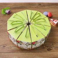 100pc flower decoration triangle cake box cheese cake dessert packing boxes mousse box favors gift package supply