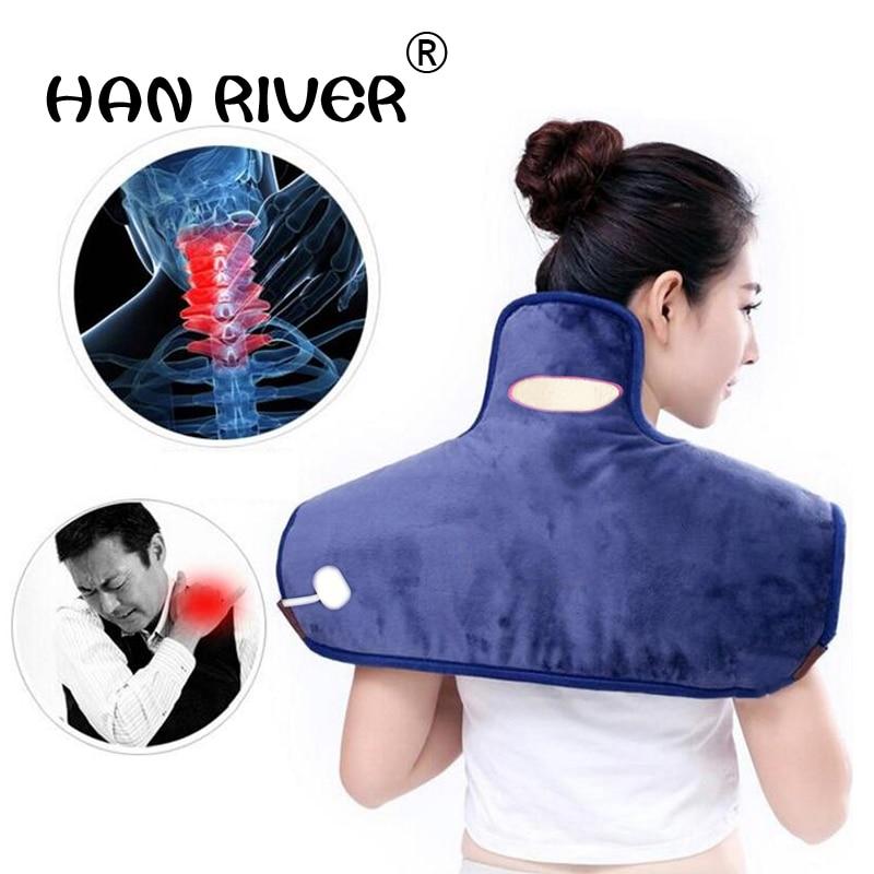 HANRIVER Multi function electric and heat shoulder neck therapy package Sea salt crude salt hot pack electric heating salt bag