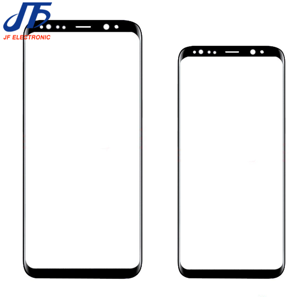 Touch panel Replacement For Samsung Galaxy S8 G950 G950F / S8 + plus G955 black Front Outer Glass Lens With Sticker 1pcs