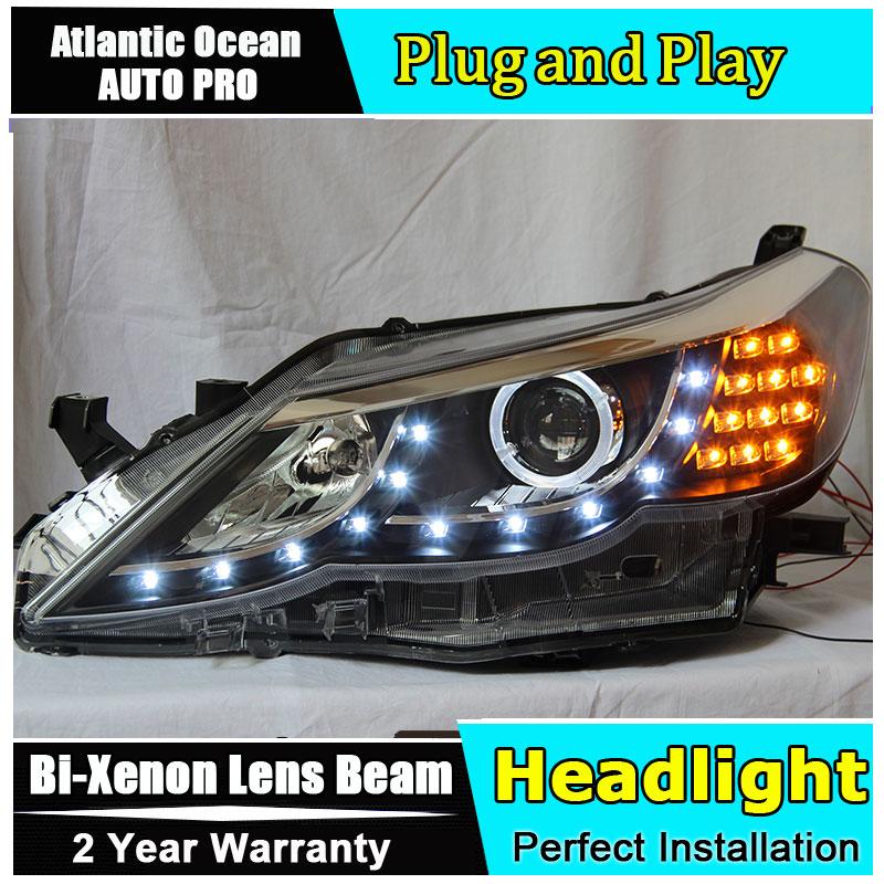 Car Styling New For Toyota Reiz headlights 2009-2012 Mark X led headlight head lamp led drl HID KIT Bi-Xenon Lens low beam