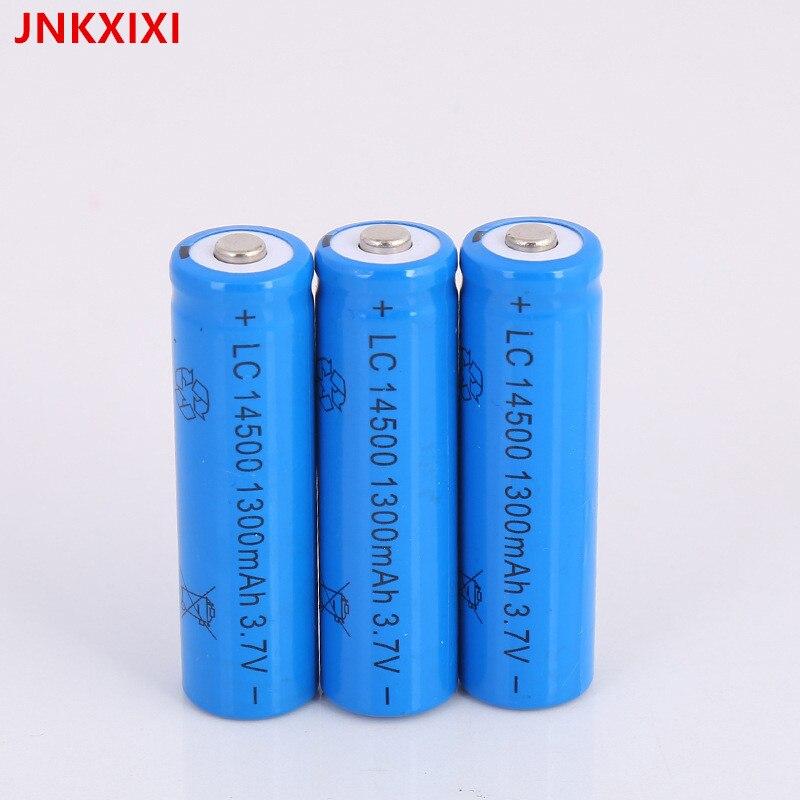 Frete Grátis 8PCS JNKXIXI 14500 Bateria Recarregável 1300mAh Baterias de iões de lítio Bateria Li-ion Bateria De Lítio para Lanterna