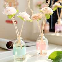 Home Fragrance Aroma Essential Oil Diffuser Set Indoor Dried Flowers Rattan Reed Diffuser Sticks 120ml