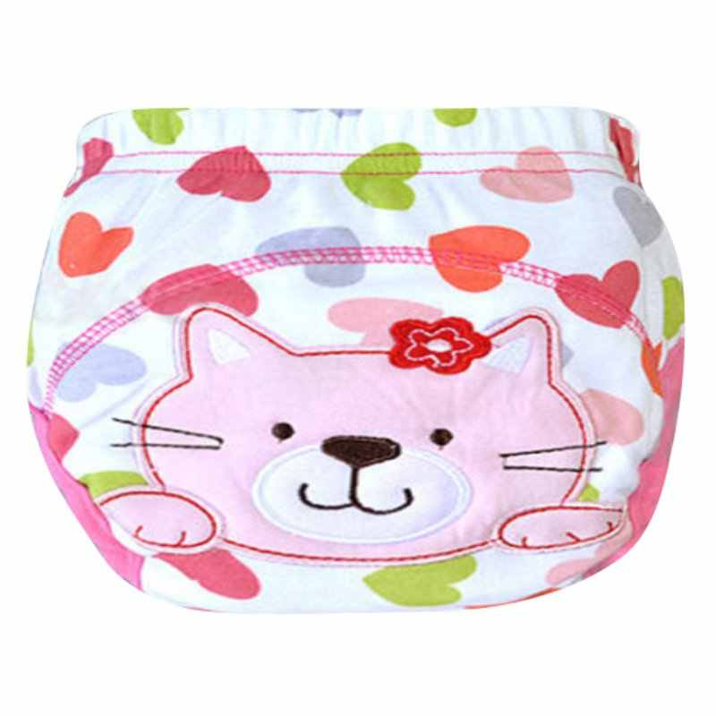 Kids Baby Cartoon Nappy Cotton Underwear Training Pants Toilet Potty Cloth Diaper Cover 12 Styles