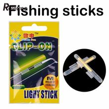 Relefree 20 Pcs/10 Ba Clip-On Stick Fishing Fluorescent Lightstick Light Night Float Rod Lights Dark Glow Stick