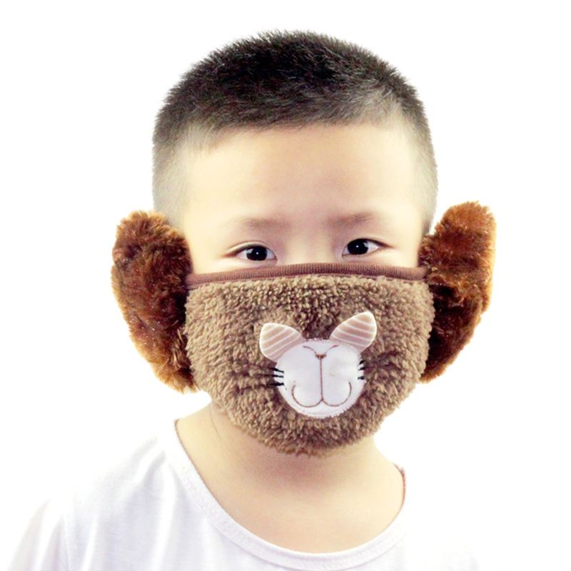 Children Kids Cartoon Winter Warm Windproof Mask Anti Dust