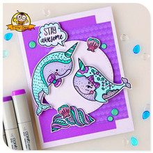 11Pcs Dolphin Craft Dies Animal Metal Cutting Cutter Stamps And Crafts and Scrapbooking Die Cuts For Card Making