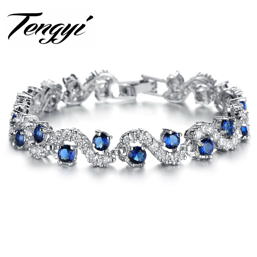 bracelets diamond austria crystal blue shoe bangles gold glass product custom women bangle from silver charm bracelet luxury for fashion