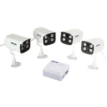 ESCAM K104 Onvif 4CH WIFI  Mini Portable NVR 1pcs+4pcs 720P Infrared Waterproof QD300 IP Camera