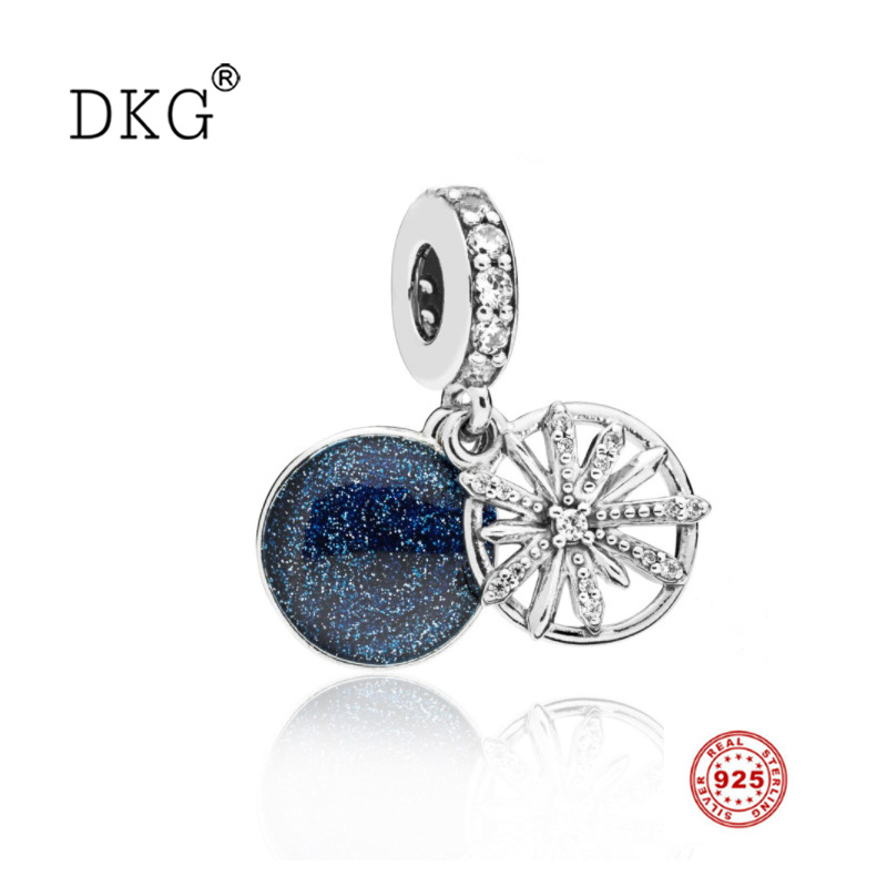 Jewelry & Accessories New 925 Sterling Silver Dazzling And Beautiful Fireworks Wish Bead Charm Cz Pendant Beads Fit Original Dkg Bracelet Diy Jewelry Top Watermelons Beads