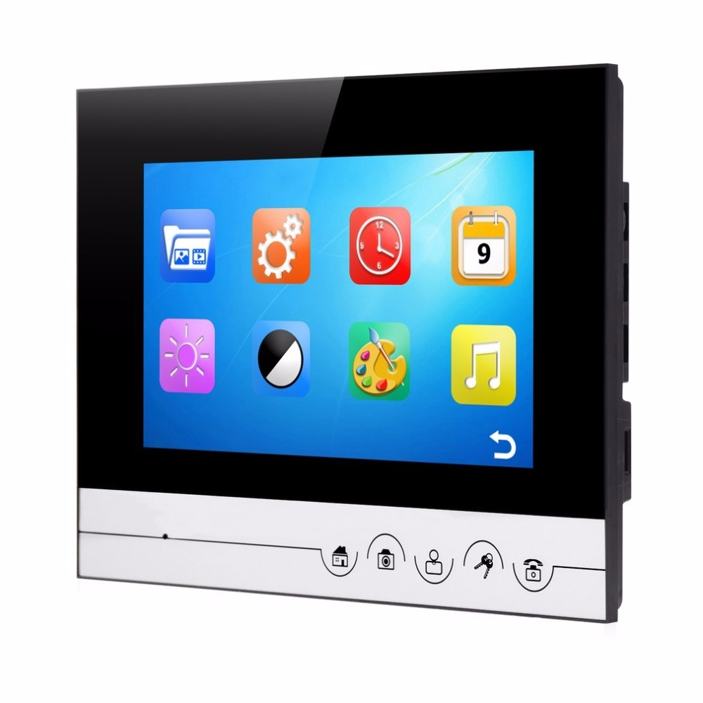 XSL-V70Rm-M1 Wired Visual Doorbell 7 Inch LCD Video Monitor Door Phone Intercom System Door Release Unlock Doorbell Camera 4 3 inch tft monitor intercom video door phone xsl 43e m