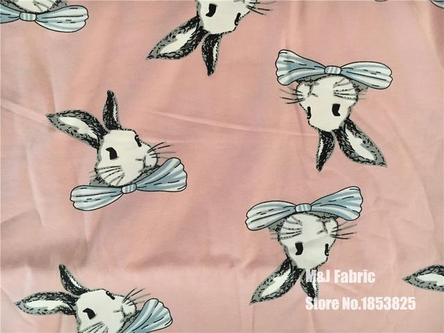50170cm Peter Rabbit Lycra Knitting Cotton Fabric Printed Tissu