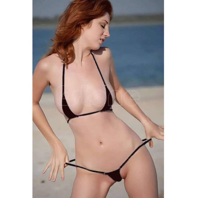 183bf3435d0 Hot Sexy Women Micro Thong Underwear G-String Bra Mini Bikini Swimwear  Sleepwear 3