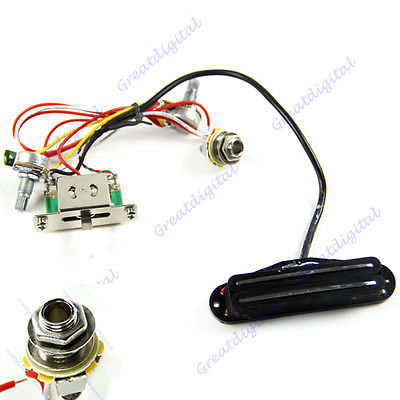 Electric Guitar Prewired Wiring Harness Pickup Volume Tone 3-Way Switch Jack 1 piece guitarfamily usa switch craft switchcraft 3 way guitar pickup toggle switch for usa gibson