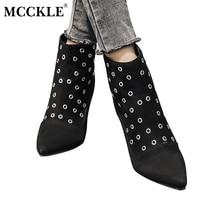 MCCKLEผู้หญิงแฟชั่นเซ็กซี่ใบบนซิปเสือดาวโลหะแหวนรองเท้าข้อ