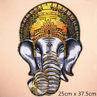 1pcs High Quality Patch Elephant Beaded Embroidery Patch DIY Clothing Sweater T Shirt Decoration Craft Applique