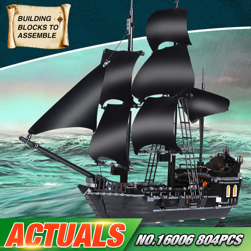 2017 New LEPIN 16006 Pirates of the Caribbean The Black Pearl Building Blocks Educational Funny Set 4184 Toy For Children waz compatible legoe pirates of the caribbean 4184 lepin 16006 804pcs the black pearl building blocks bricks toys for children