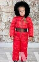 Зимние Детские Боди вниз комбинезон снег износ Для женщин вниз пальто Водолазка Боди Комбинезоны толстые Теплая зимняя одежда