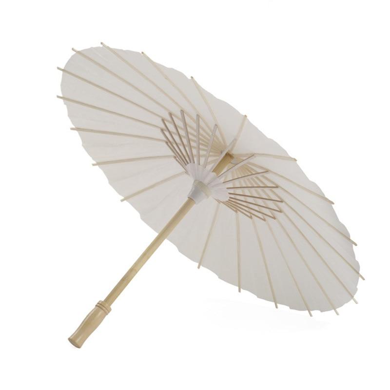 YO CHO 20.47in Wedding mariage Umbrella Wedding Accessories Photo props Decoration Beige Paper White Umbrella DIY Bridal parasol