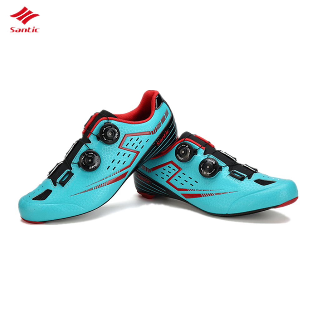 Santic Carbon Fiber Bicycle Lock Shoes Men's mtb Cycling Shoes Cycling Riding Auto-locking Racing Sneaker Bike Accessories scoyco motorcycle riding knee protector extreme sports knee pads bycle cycling bike racing tactal skate protective ear