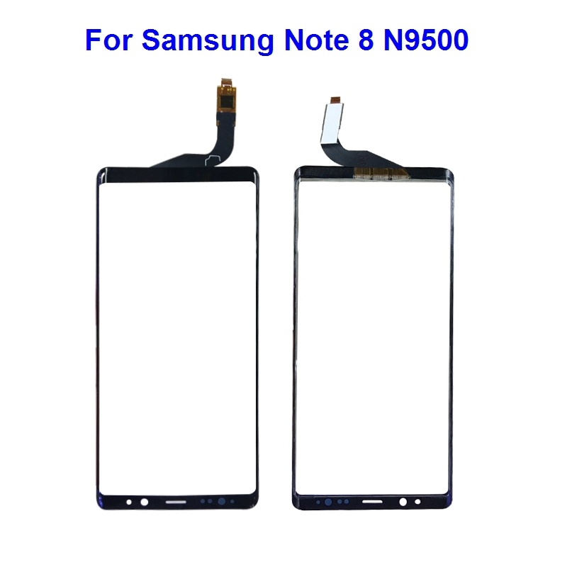 Replacement <font><b>Screen</b></font> Digitizer Front Glass Lens <font><b>for</b></font> <font><b>Samsung</b></font> <font><b>Galaxy</b></font> <font><b>Note</b></font> <font><b>8</b></font> N950 N9500 <font><b>N950F</b></font> LCD Touch <font><b>Screen</b></font> Glass Black with Tools image